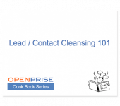 Contact/Lead Cleansing 101 – Cook Book