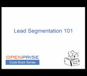 Lead Segmentation 101 – Cook Book