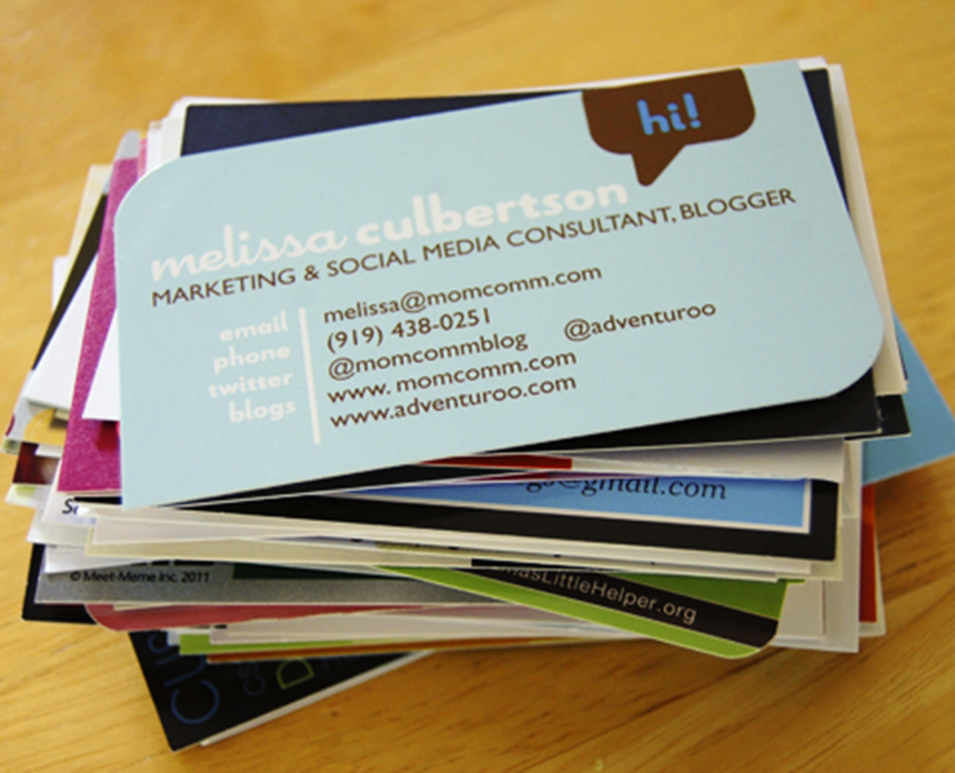 Bloggy Business Card Stack
