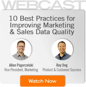10 Best Practices for Improving Marketing & Sales Data Quality