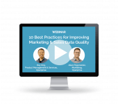 Webinar: 10 Best Practices to Improve Marketing & Sales Data Quality