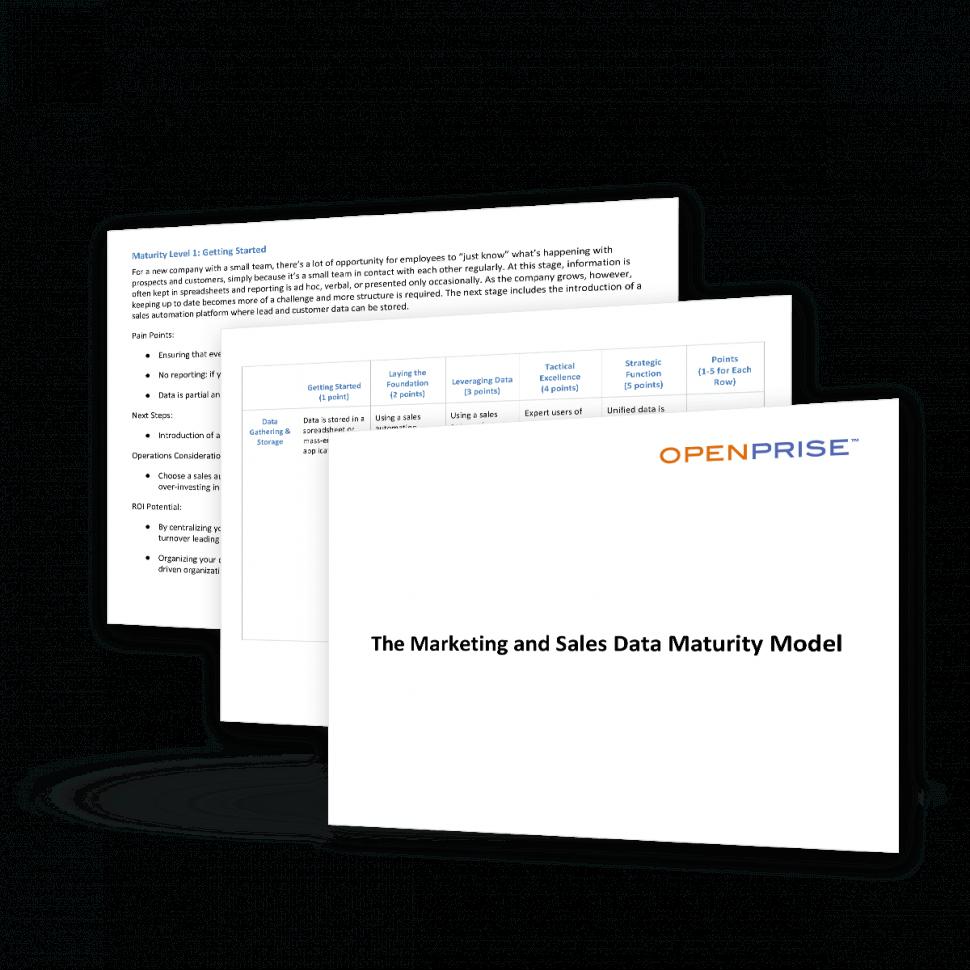 Openprise Mktgandsalesdatamaturitymodel
