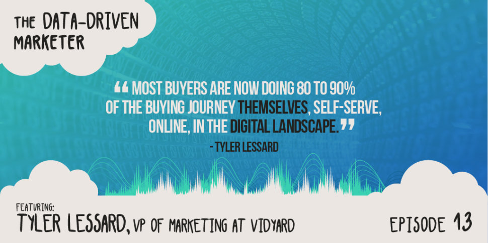 """Most buyers are now doing 80 to 90% of the buying journey themselves, self-serve, online, in the digital landscape."""" — Tyler Lessard"""