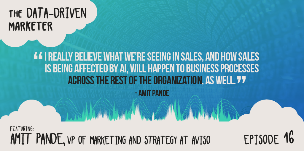 """I really believe what we're seeing in sales, and how sales is being affected by AI, will happen to business processes across the rest of the organization, as well."" — Amit Pande"
