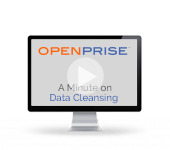 A minute on data cleansing