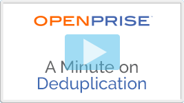 A minute on deduplication